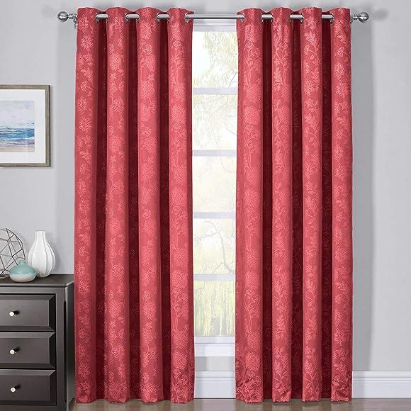 Royal Bedding Fannie Red Curtain