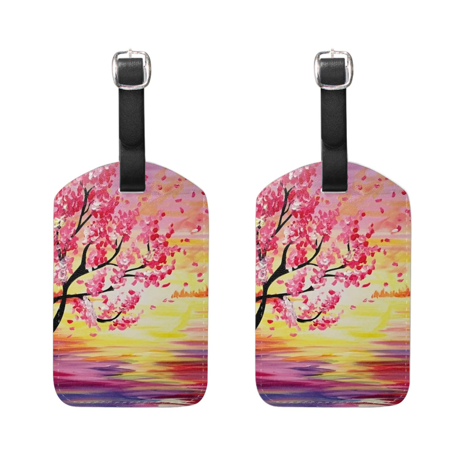 Carnation Flowers Luggage Tag Perfect to Quickly Spot Luggage Suitcase