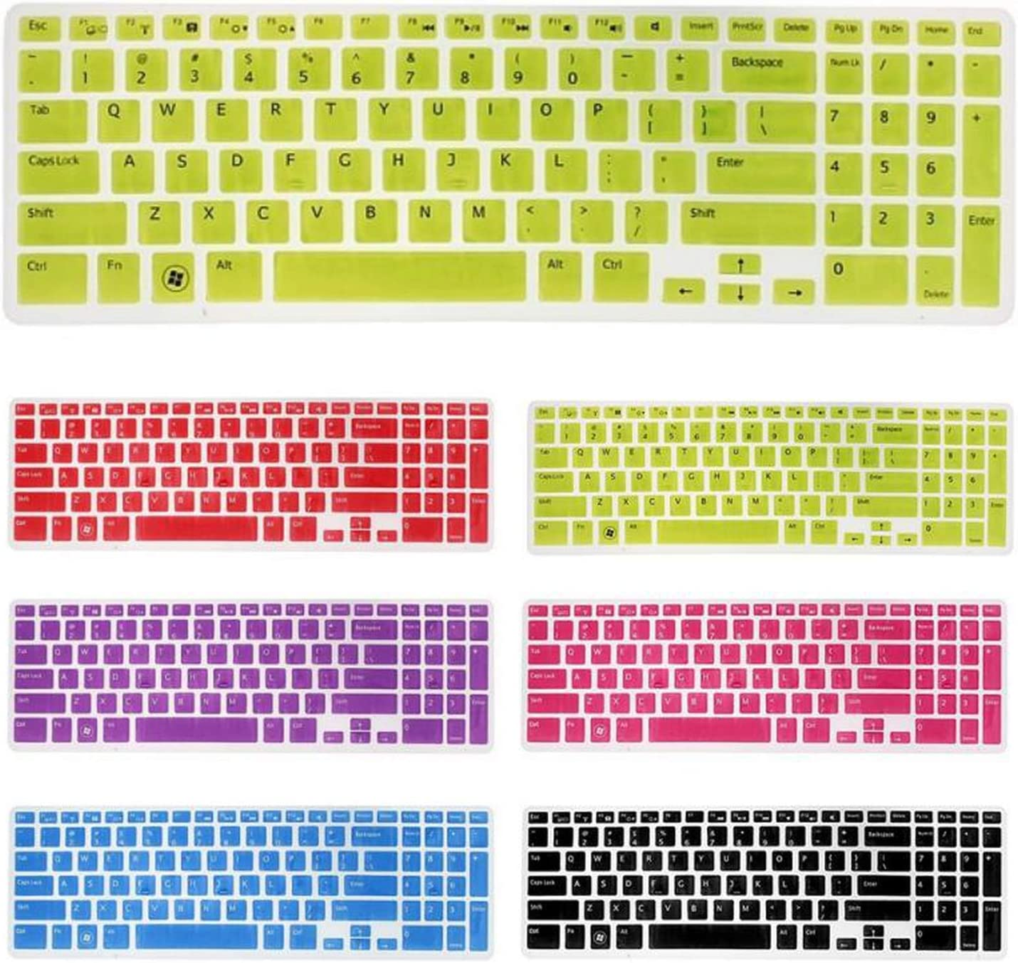 Us Keyboard Skin Cover Protector for 15.6 for Dell New Inspiron 15C 15Cr 15Md 5Cd 15M-Pink