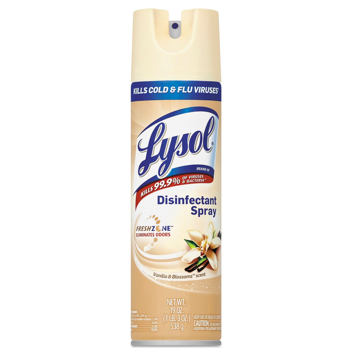 Lysol REC82607 Disinfectant Spray, Vanilla And Blossoms, 19 Oz Aerosol, 12/carton