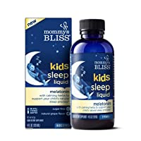 Mommy's Bliss Kids Sleep Liquid with Melatonin and Calming Herbs to Support Your...