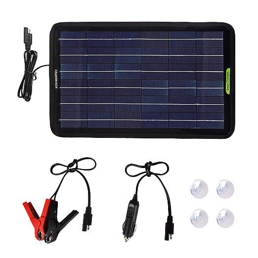 ECO-WORTHY - Cargador de batería portátil con Panel Solar de ...