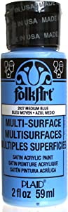 FolkArt Multi-Surface Paint in Assorted Colors (2 oz), 2927, Medium Blue