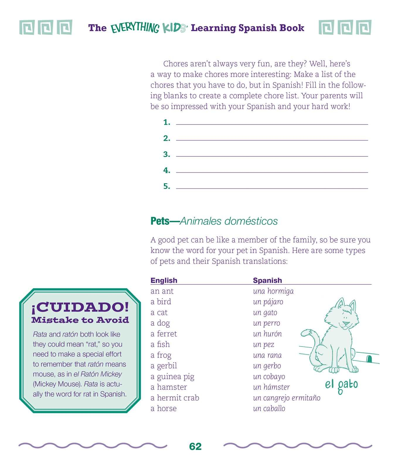 The Everything Kids Learning Spanish Book 2nd Edition: Cecilia I