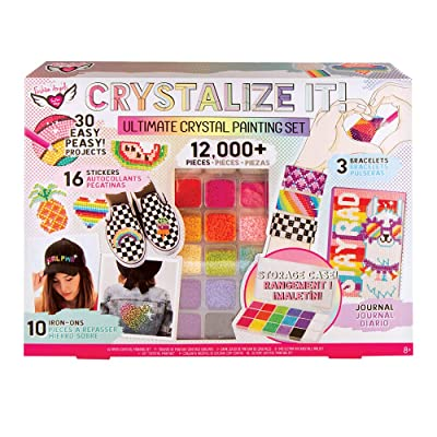 Fashion Angels CRYSTALLIZE IT! Crystal Painting Set Ultimate Kit (12380), Rhinestone Paint by Number, Ages 8 and up: Toys & Games