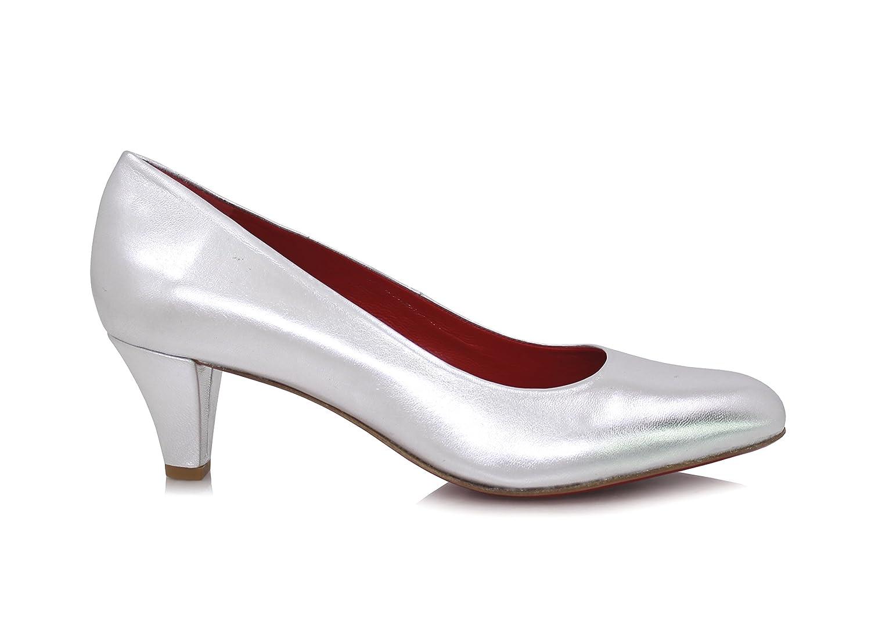 8d97d3d26a69 ... Diamond Heels Pumps Breiter Silber Absatz 5cm Silber Breiter Metallic  Silber 9f1514 ...