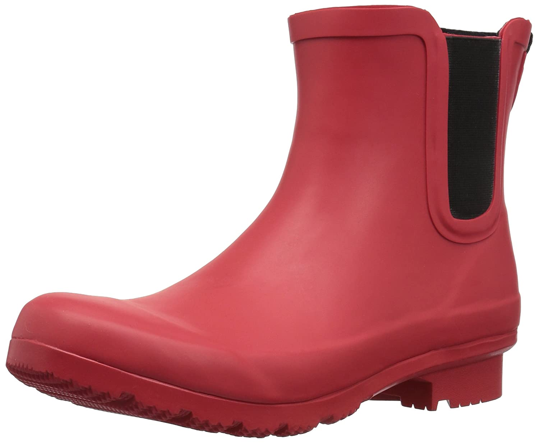 Matte red Roma Boots Women's Chelsea Rain Boots