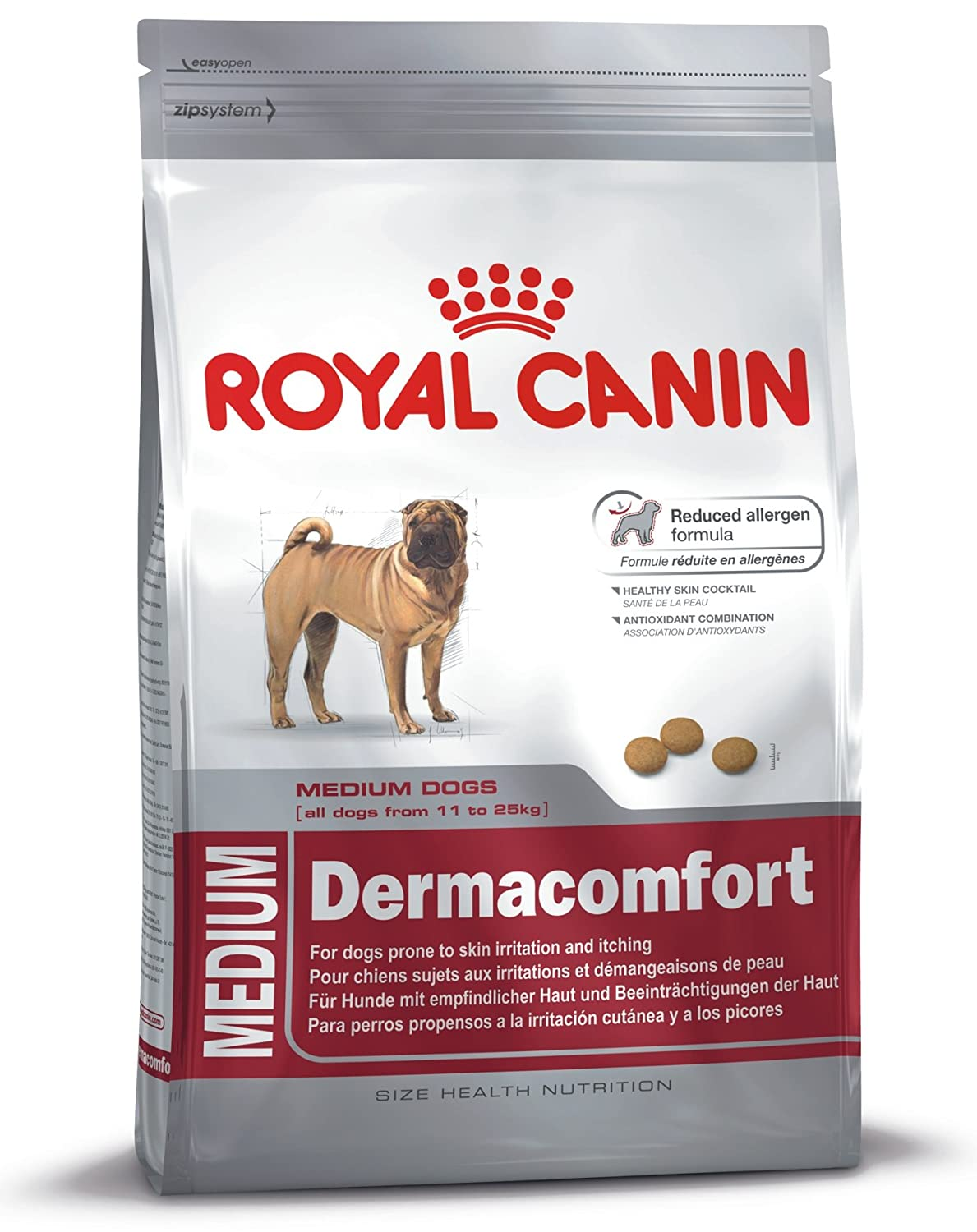 10kg Royal Canin Dog Food Medium Dermacomfort Dry Mix 10kg