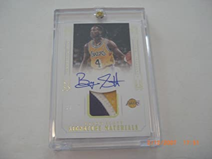 83bc0d5fd88 Image Unavailable. Image not available for. Color: Byron Scott National  Treasures 3-color Game Used Jersey Auto 20/25 ...