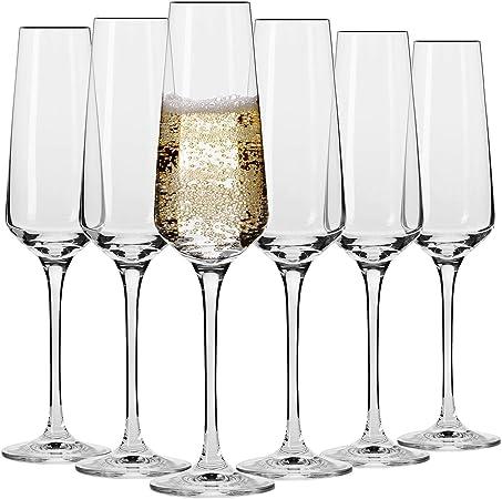 Krosno Flute Cristal De Champagne Verre Lot De 6 180 Ml Collection Avant Garde Parfait La Maison Les Restaurants Les Fetes Lave Vaisselle Et Micro Ondes Amazon Fr Cuisine Maison