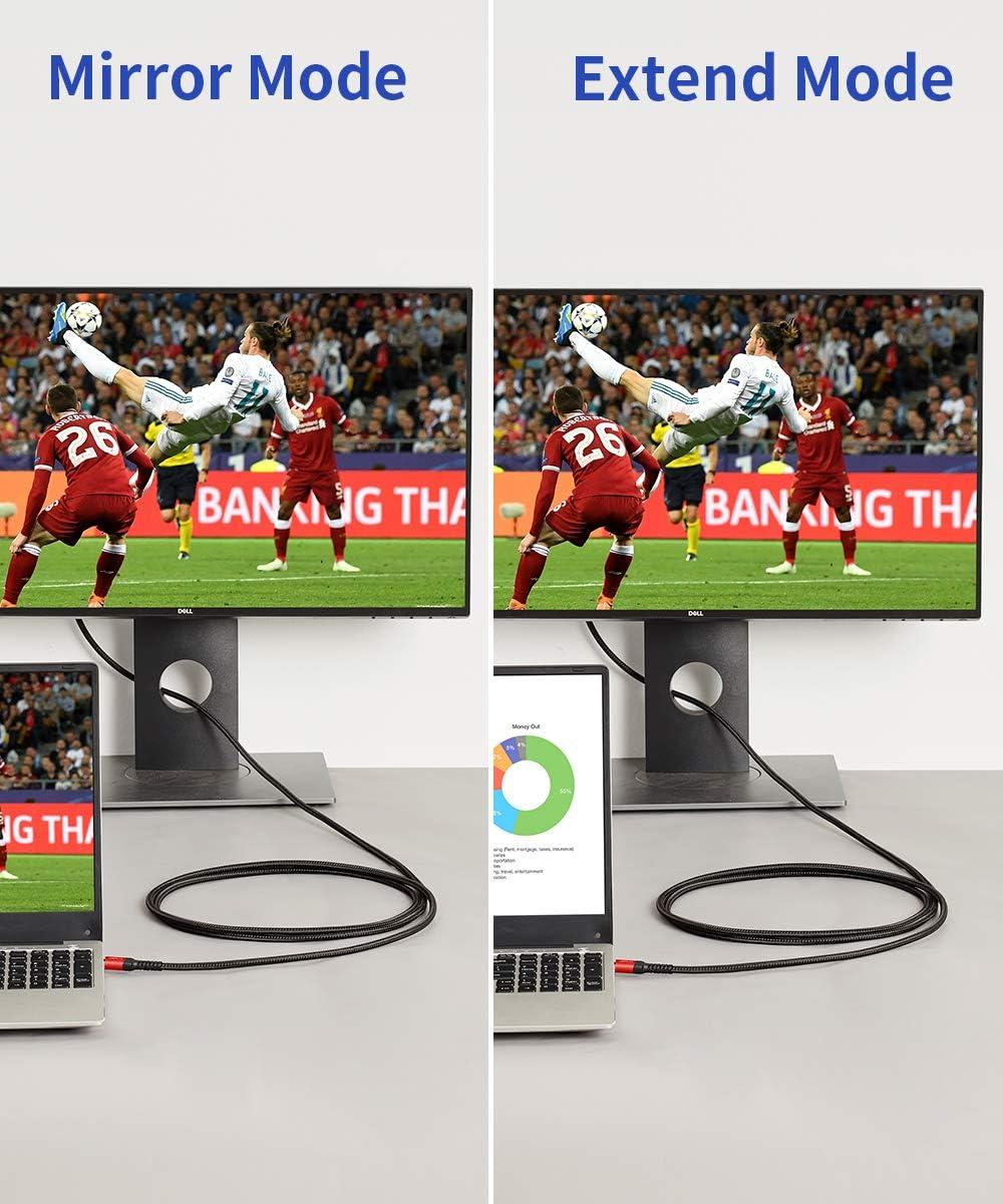 PC-Monitor iMac Grau Microsoft Surface Book JSAUX Mini DisplayPort auf HDMI Kabel Thunderbolt auf HDMI Kabel 1080P@60Hz 3M Geflochtenes Nylon Kompatibel mit MacBook Air//Pro Projektor