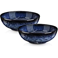 VICRAYS Ceramic Pasta Bowls Set, 27 Ounce Salad Bowls, Large Soup Bowls, Chip Resistant, Dishwasher Microwave Safe…