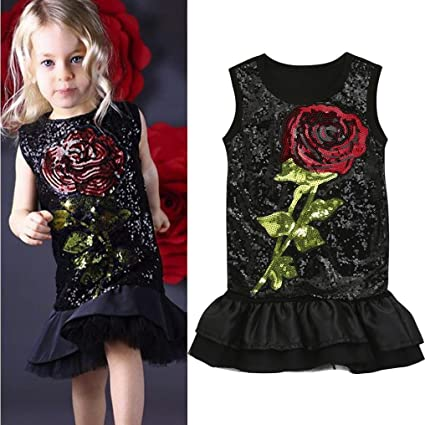 Amazon Toddler Baby Girl Dress Cuekondy Kids Summer Sequins