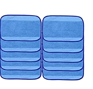 10-pack Wet Microfiber Mopping Cloths Washable&Reusable Mop Pads Fits iRobot Braava 380 380t 320 321 Mint 4200 4205 5200 5200C Robot