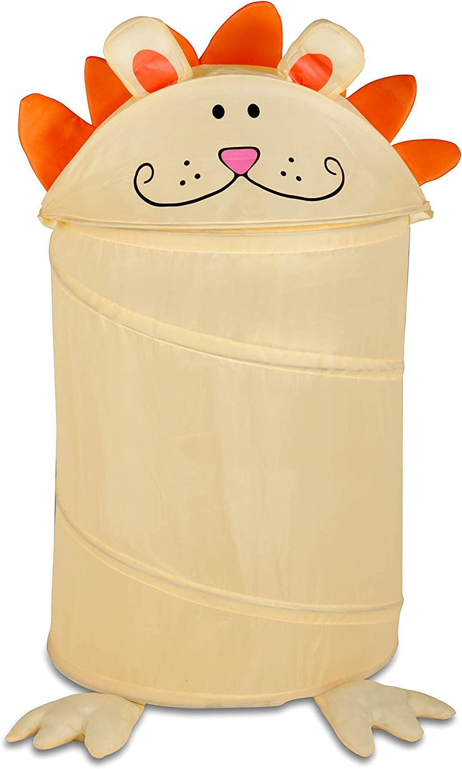 Honey-Can-Do HMP-02056 Medium Kid's pop-up Hamper-Lion