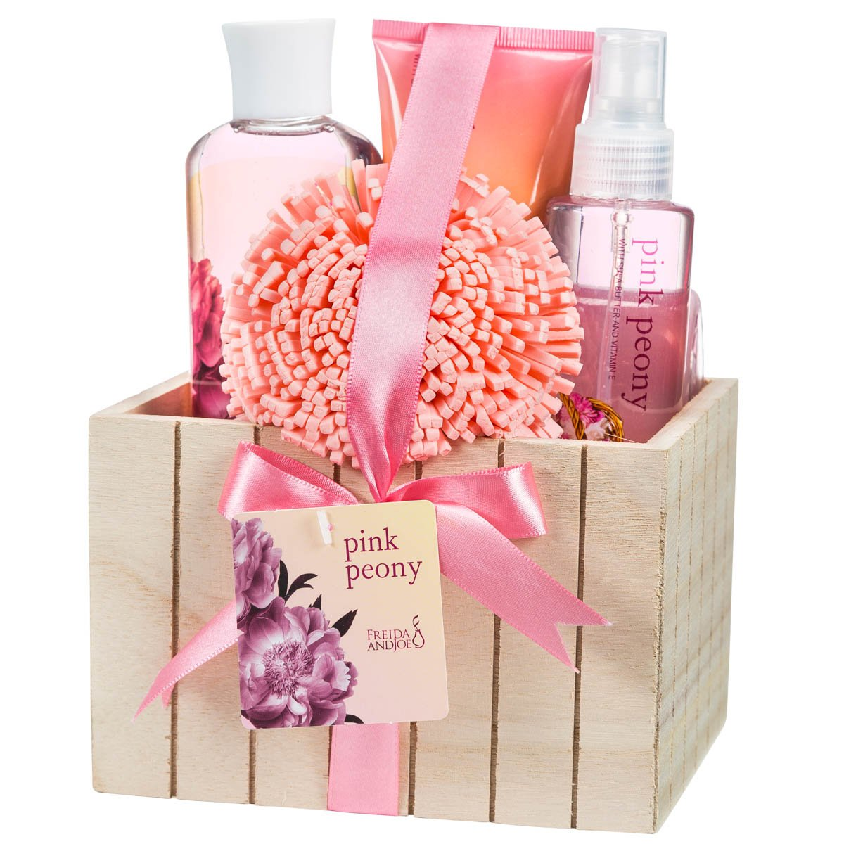 Amazon.com: Motheru0027s Day Gift Basket Relaxing Spring Pink Peony Fragrance  Aromatherapy Home Spa Bath Gift Set With Skincare Body Lotion, Shower Gel,  ...