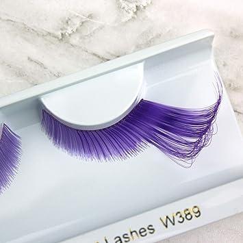 8af78338809 Amazon.com : Elegant Lashes W389 Premium Jumbo Color False Eyelashes  (Lavender and Purple Mix) Halloween Dance Rave Costume : Fake Eyelashes And  Adhesives : ...