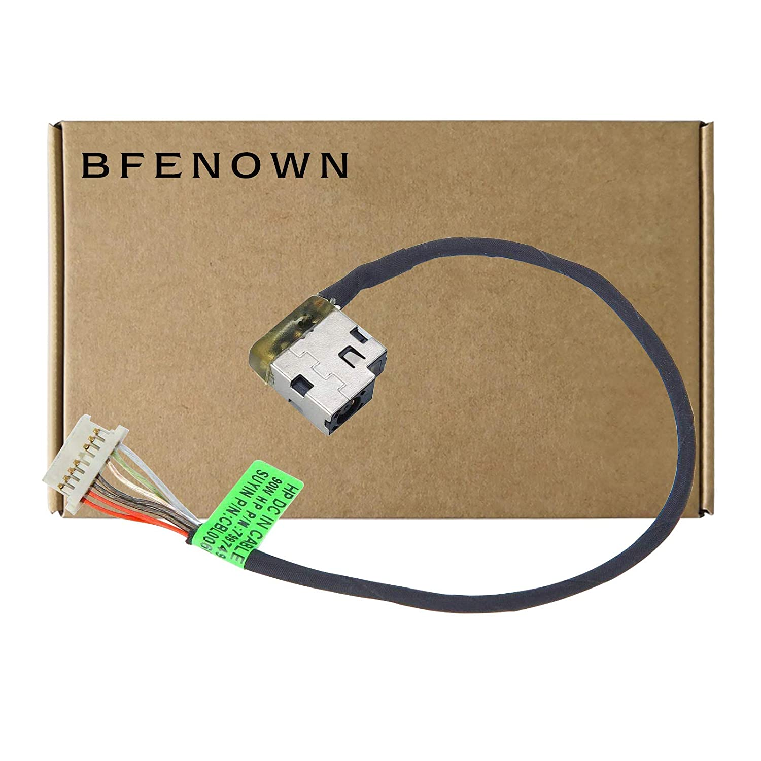 Bfenown DC Power Jack Harness Cable for HP 15-AF 15-AF131DX 15-AC 15-AC113CL 15-AC121DX 15-AC163NR 799736-Y57 799736-S57 799736-F57 813945-001 799736-T57,HP Pavilion 17-G 17-G179NB 17-G113CL 17-G113DX