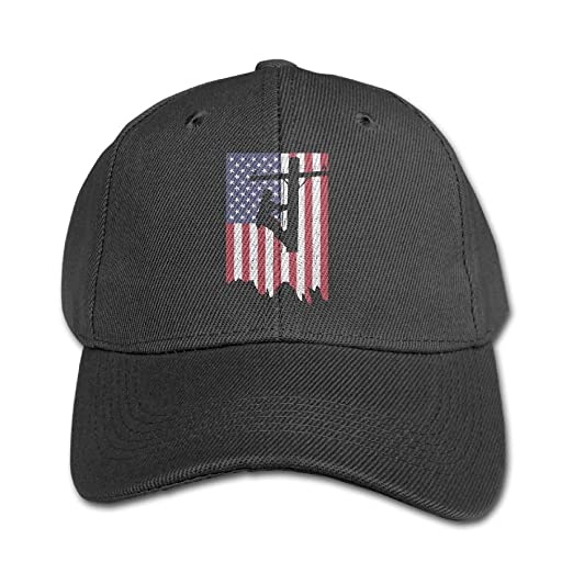 Amazon.com  Electric Power Lineman American Flag Boy and Girl Adjustable  Snapback Curved Visor Washed Dyed Cotton Ball Hat Toddler Custom Hat   Clothing 4732cc09768