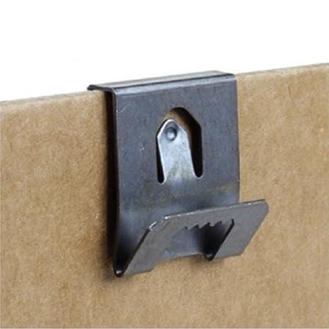 Percha con clip para colgar cuadros de 2 a 3 mm (100 unidades)