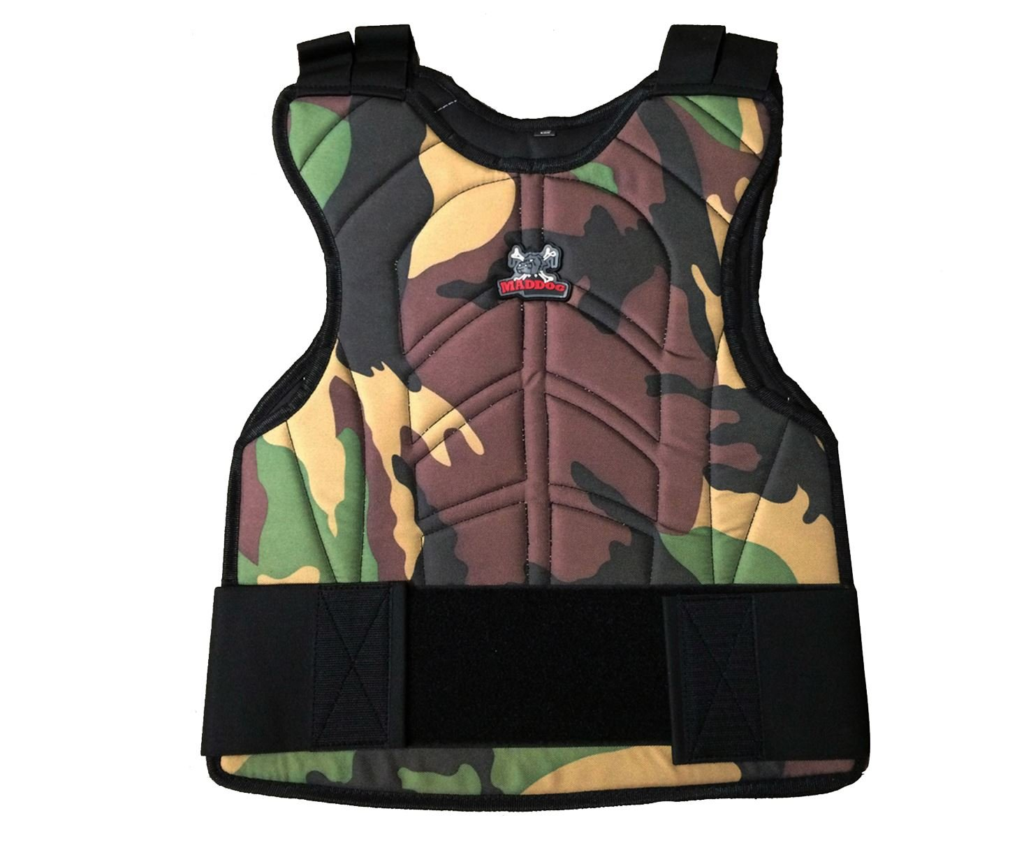 Maddog Padded Paintball & Airsoft Chest Protector MD-2250-VESTBLK