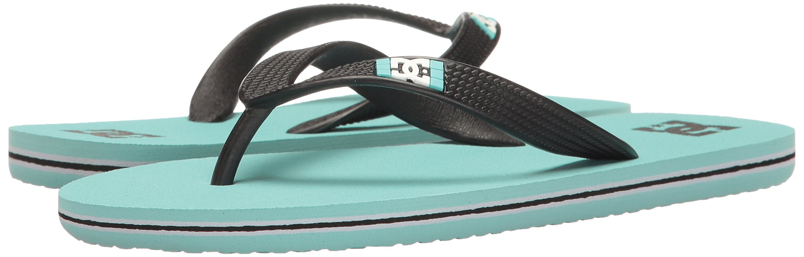 DC Girls' Spray Flip Flop, Turquoise, 6 M US Little Kid by DC (Image #6)