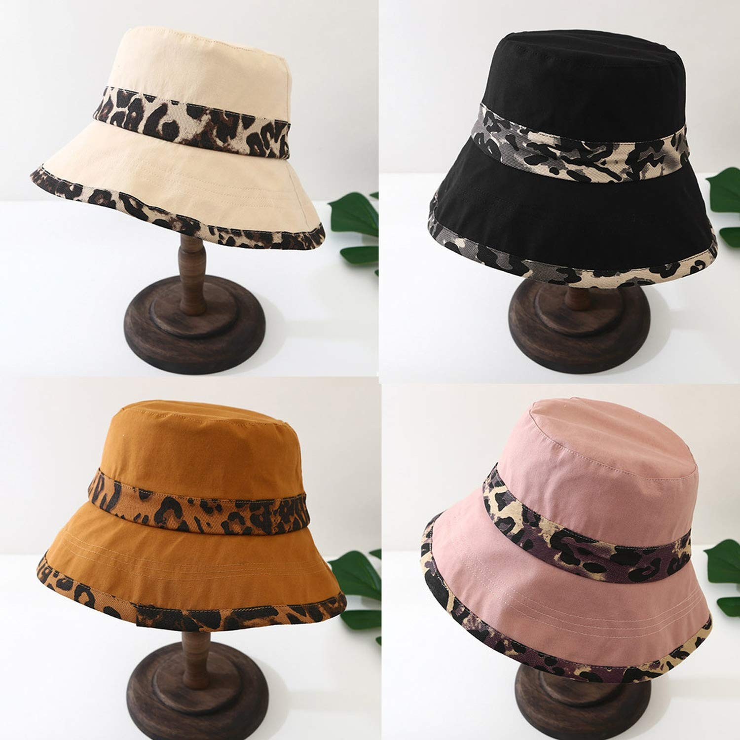 Amazon.com: Beach hat Wide Brim Leopard Wide Brimmed Floppy Foldable Summer Sun Beach Hat,Pink: Clothing