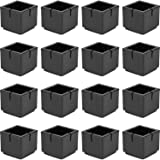 Flyshop Square Anti Slip Rubber Leg Tips Chair Leg Caps Furniture Floor Protectors 1 1 2 X 1 1 2 38 X 38mm Black 10 Pcs Amazon Com
