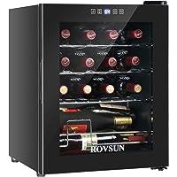 ROVSUN 16 Bottle Wine Cooler, 1.7cu.ft Freestanding Compressor Wine Chiller w/Digital Temperature Control & Double-layer…