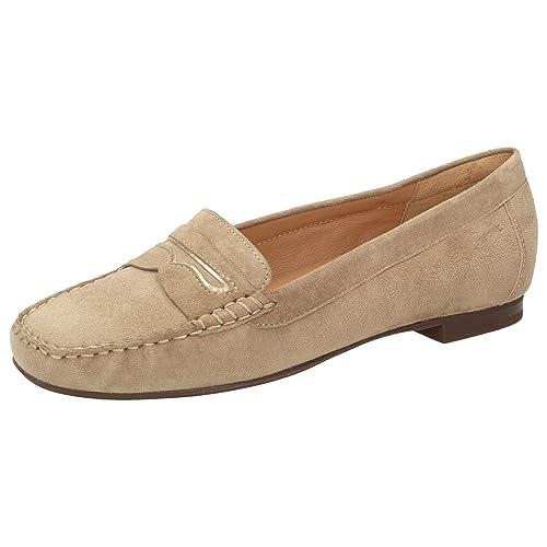 Sioux - Mocasines de Piel para mujer beige beige, color beige, talla 36: Amazon.es: Zapatos y complementos