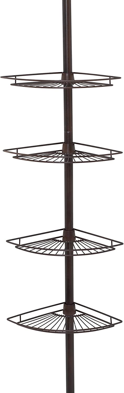 Zenna Home Shower Tension Pole Caddy, Oil Rubbed Bronze: Home & Kitchen