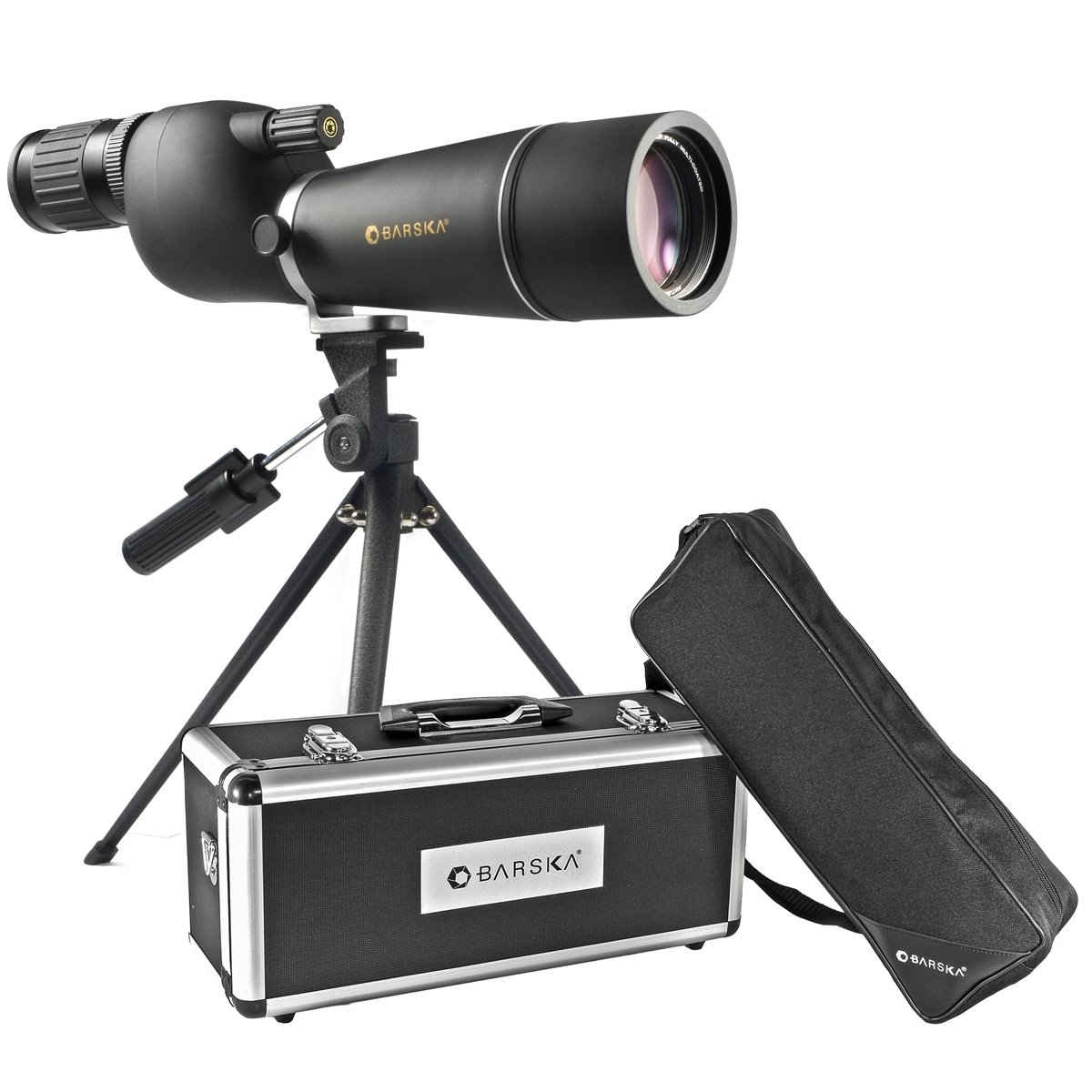 5.BARSKA Naturescape 15-45x60 Straight Spotting Scope