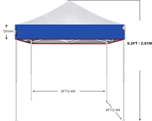 AMERICAN PHOENIX 8×8 Pop Up Tent Instant Outdoor Canopy Portable Shade Folding Tent Carry Bag Blue