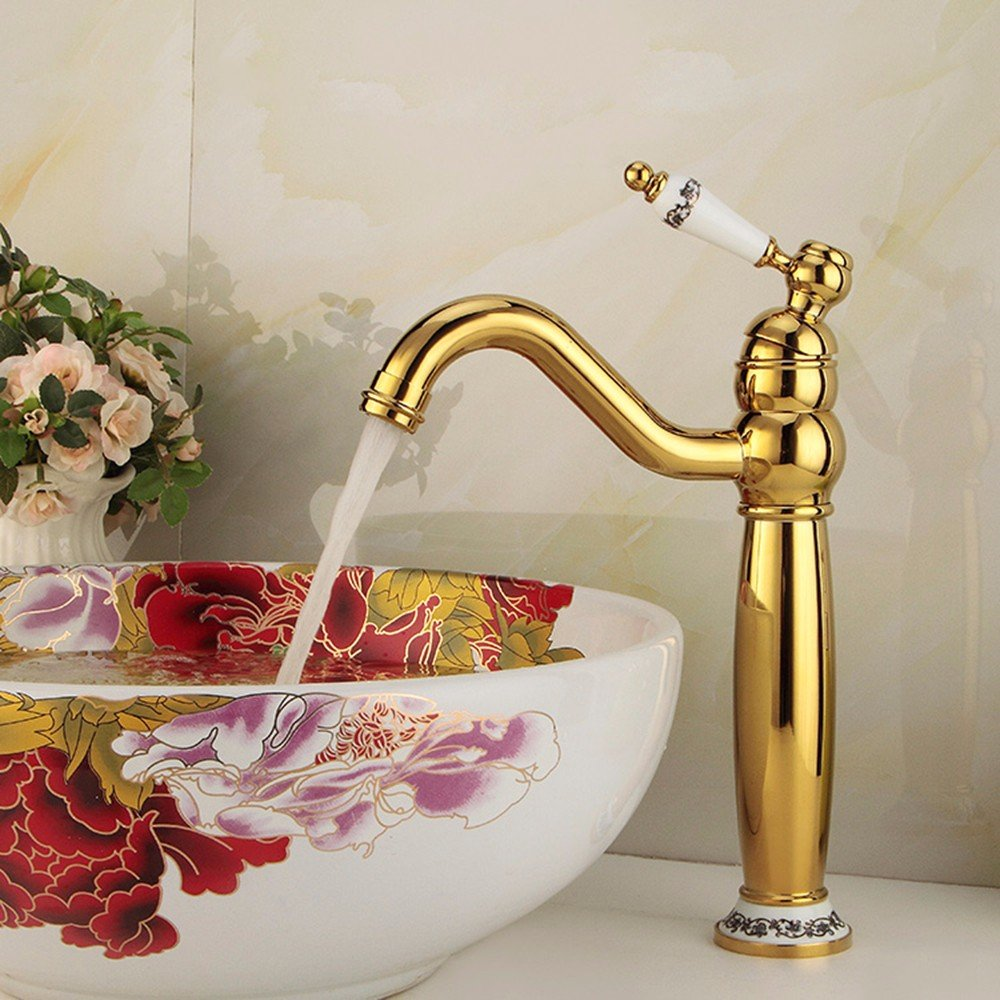 15 Hlluya Professional Sink Mixer Tap Kitchen Faucet Copper, hot and cold jade, basin, Single Hole, sink and faucet