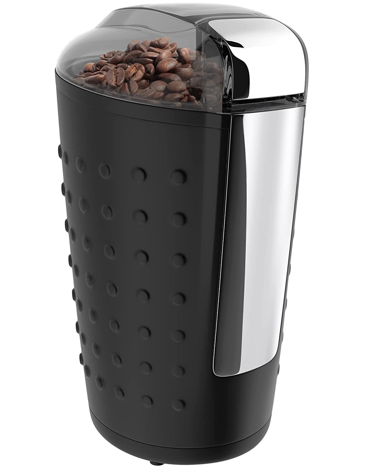 Vremi Electric Coffee Grinder - Portable Coffee Bean Grinder with Easy Touch Settings Stainless Steel Blades & 150W Power Motor - Grinds Coarse Fine Ground Beans for 12 to 14 Cups of Coffees - Black