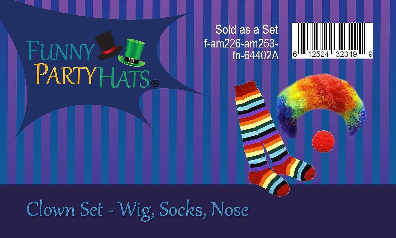 Clown Wig Clown Socks Cute Clown Clown Nose Funny Party Hats Clown Costume Rainbow Clown Accessories