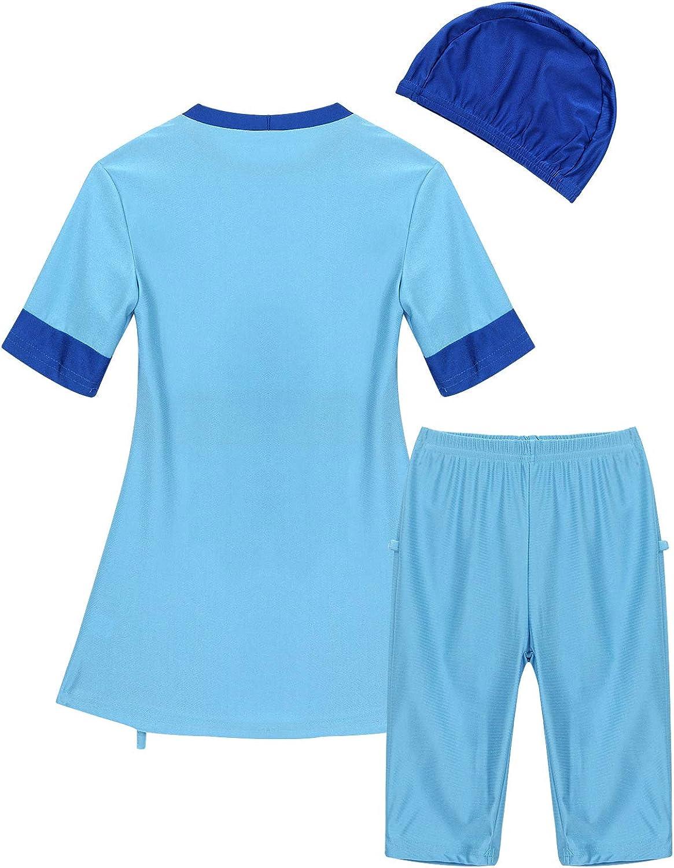 Swimwear Sun Protection Rash Guard Sunsuit Agoky Girls Kids 2-Piece Full Body Swimsuit UPF50