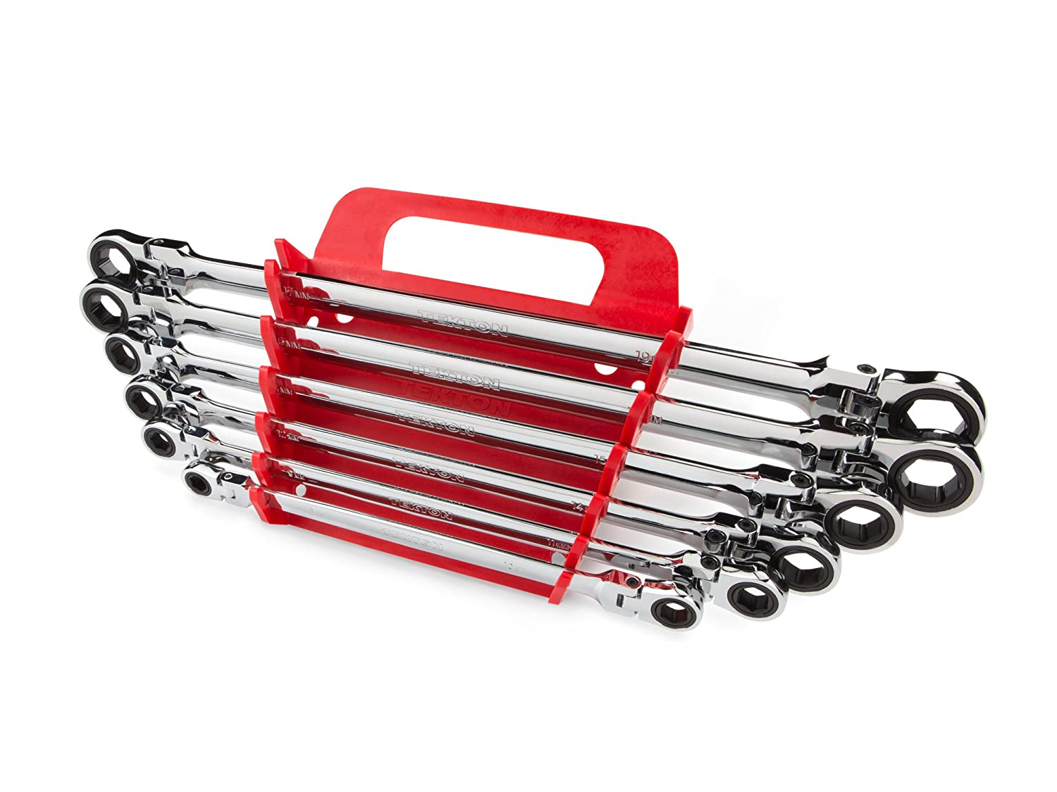 Tekton Wrn77164 Extra Long Flex Head Ratcheting Box End Wrench Set