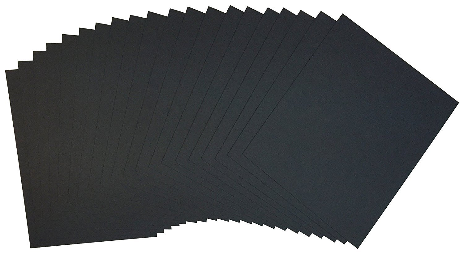 Crescent #6008 Ultra Black Smooth Board 11''x14'' (25 Sheets) by Ultra Black Smooth Display Boards