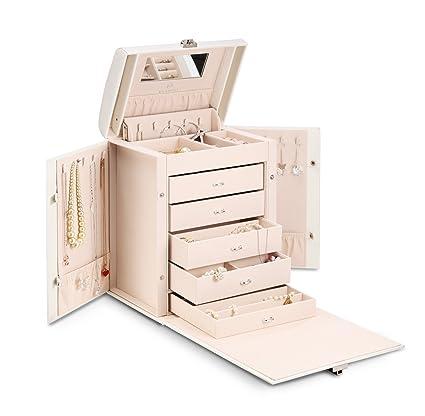 Amazoncom Vlando Deluxe Large Jewelry Box Storage Organizer