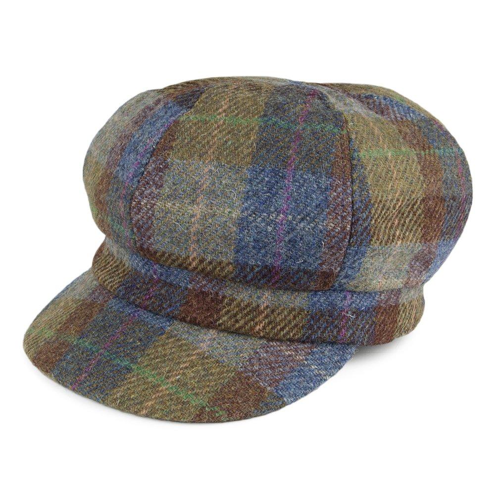 Failsworth Hats Gabby Harris Tweed Baker Boy Cap - Blue-Green