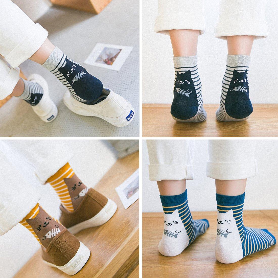 a885c38f58697 LOTUYACY Womens Girls Cute Animal Casual Socks Comfort Funny Cotton Crew  Socks 4 Or 5 Pack BT-UX5U-5FXX Christmas gift