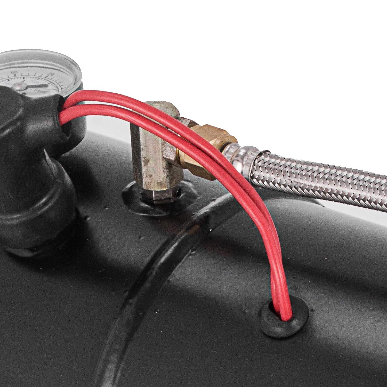 Frantools 4 Trompetenzug Air Horn Kit 12V Luftkompressor 150PSI Lufthorn Kit 4 H/örner Lufthorn Kompressor Tank Kapazit/ät 3 Liter Super Laut F/ür LKW Auto Boot
