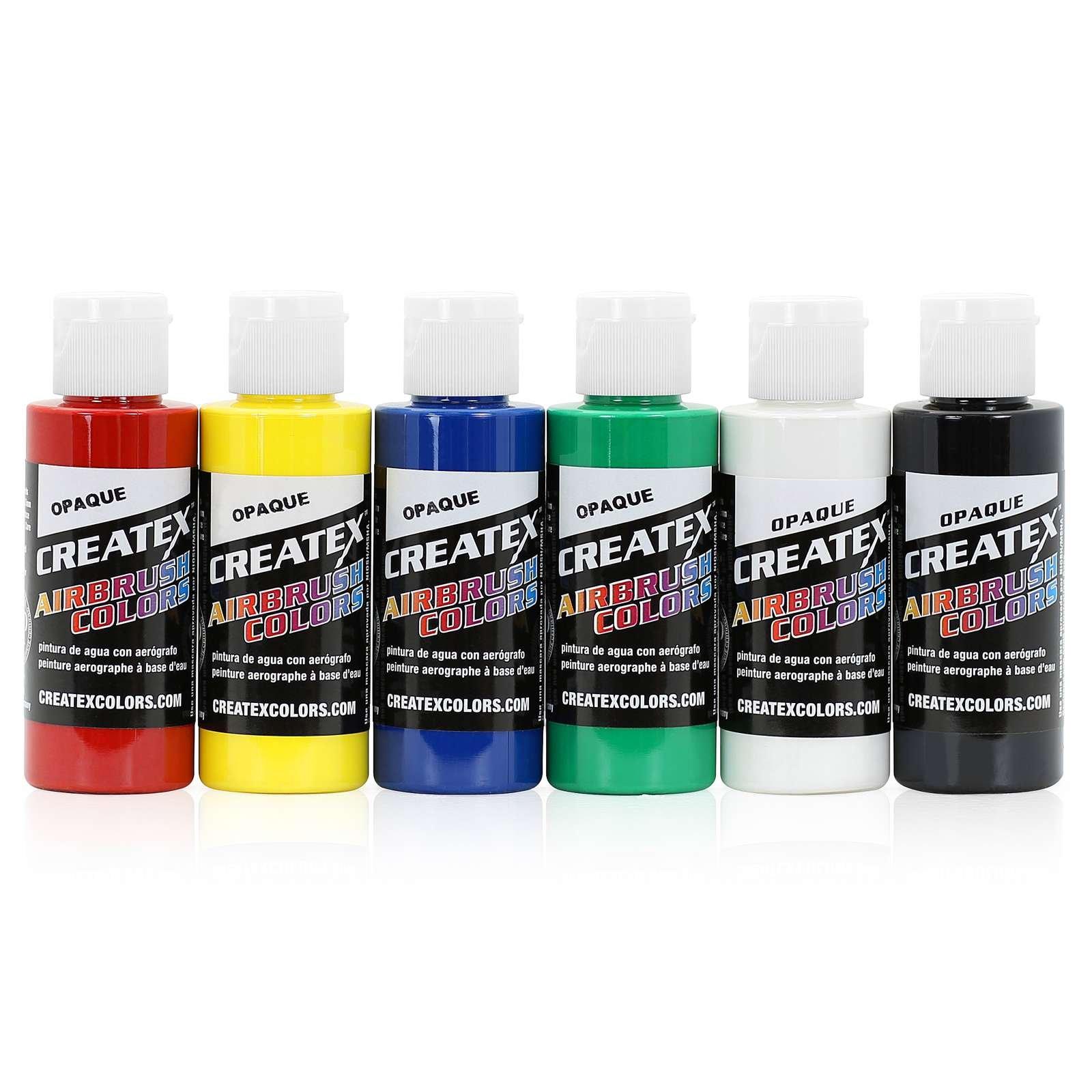 Createx Colors 5803-00 2 oz Opaque Airbrush Paint Set 2 Ounce Multicolor