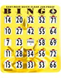 Mr. Chips Jumbo Slide Bingo Shutter Cards | Deluxe Jam Proof Quick Clear | Rapid Slide Reset | Easy Read Numbers | Large Sliders with Big Tabs | Extra Thick Board |Gold Rush
