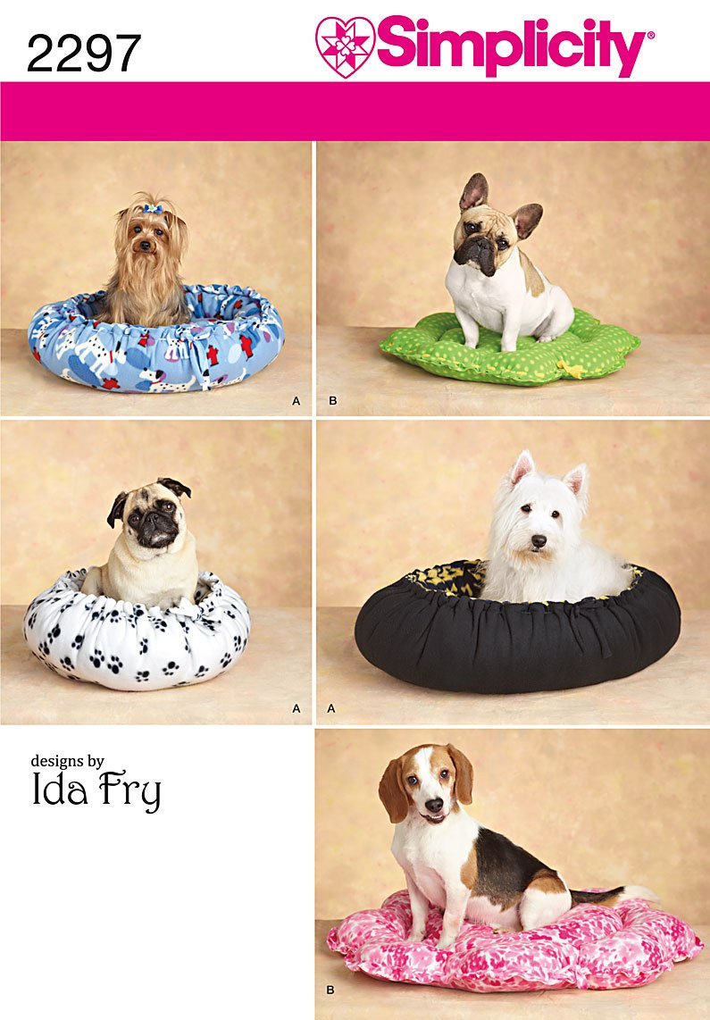 Amazon.com: Simplicity Designs by Ida Fry Pattern 2297 Dog Beds in Two  Styles, Sizes Small-Medium: Arts, Crafts & Sewing