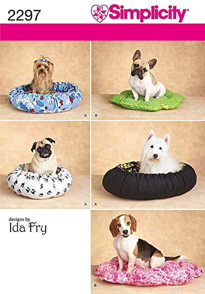 Amazon.com: Simplicity Designs by Ida Fry Pattern 2297 Dog Beds in ...