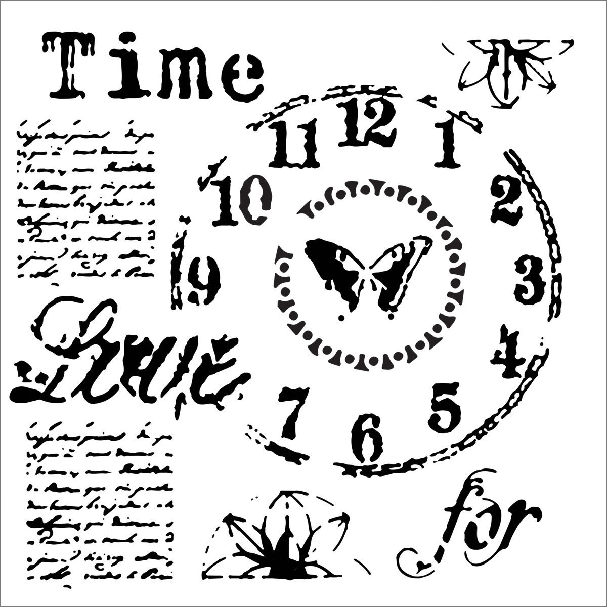 Crafter workshop modello 15, 2 cmx 15, 2 cm Time for Love 2 cmx 15 Crafters Workshop TCW622S