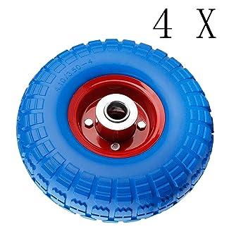Miafamily PU - Goma ruedas ruedas Rueda de carretilla carretilla rueda antipinchazos para 255 X 74