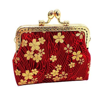 YUnnuopromi - Monedero de tela, diseño de flores: Amazon.es ...